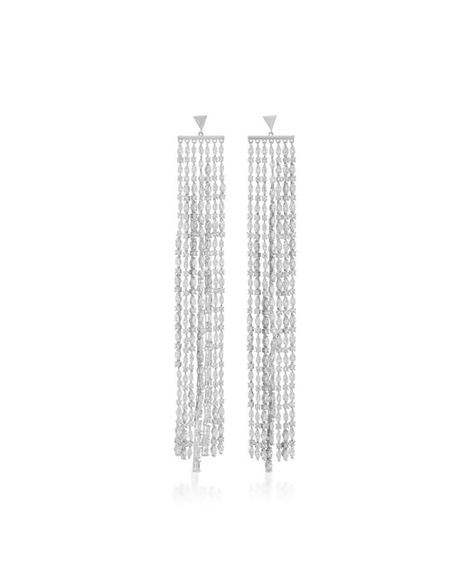 Fallon - Metallic Marquis Waterfall Sliver Earrings - Lyst