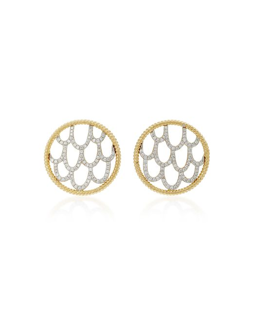 Yvonne Léon | Metallic 18k Gold Diamond Earrings | Lyst