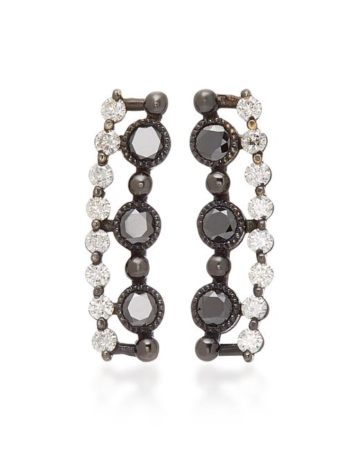 Colette - Black Masai 18k Gold And Diamond Ear Cuffs - Lyst