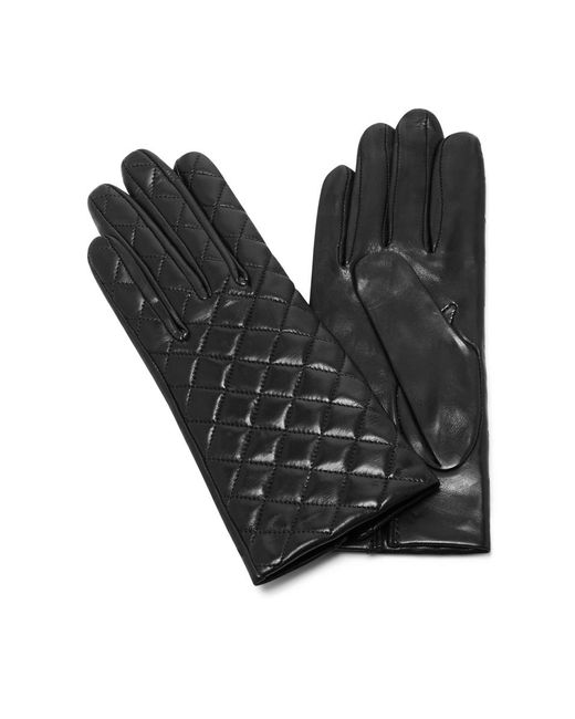 Maison Fabre - Black Quilted Leather Gloves - Lyst