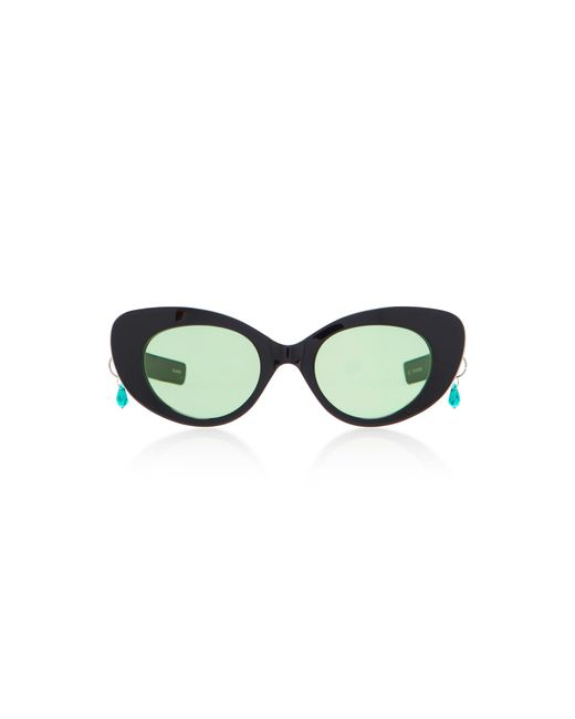 Pared Eyewear | Black M'o Exclusive Poms & Pared Acetate Cat-eye Sunglasses | Lyst