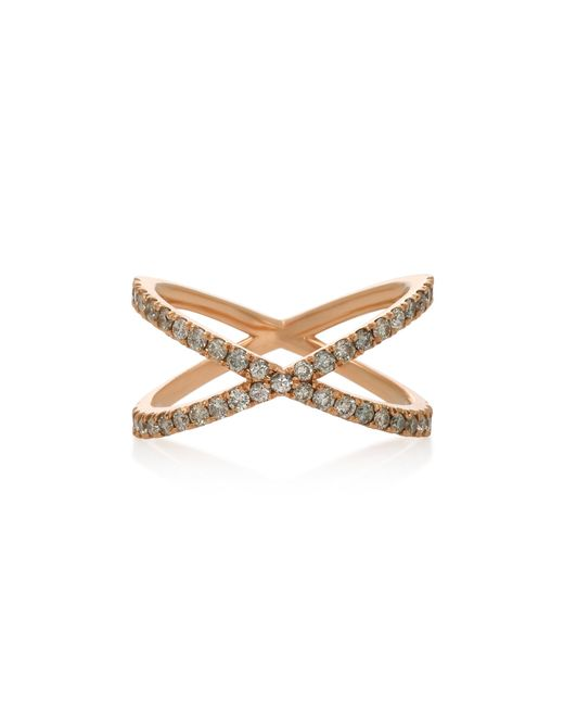 Eva Fehren - Metallic Shorty 18k Rose Gold And Diamond Ring - Lyst