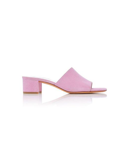 Maryam Nassir Zadeh - Pink Sophie Suede Slides - Lyst