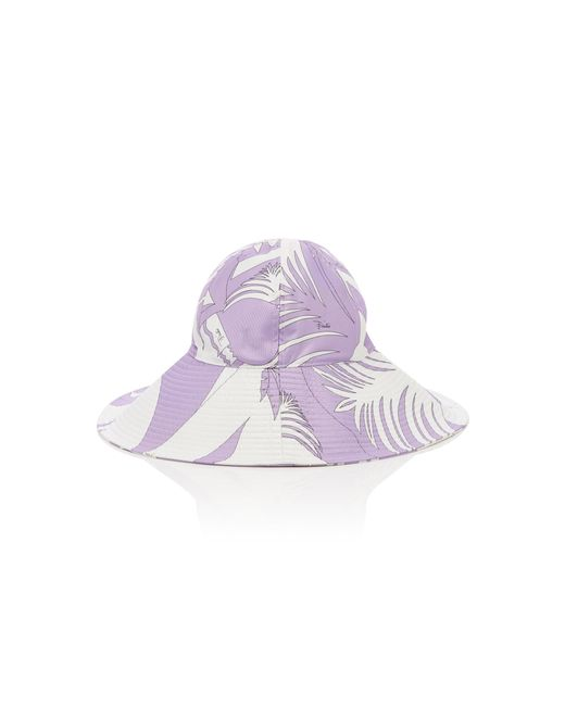 72c78ffc66785 ... Emilio Pucci - Purple Printed Wide-brimmed Bucket Hat - Lyst ...