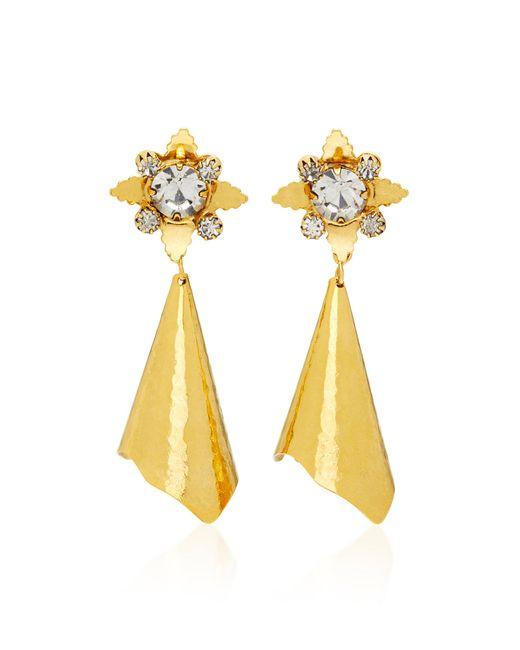 Nicole Romano - Metallic Walker Gold-plated Brass Crystal Earrings - Lyst