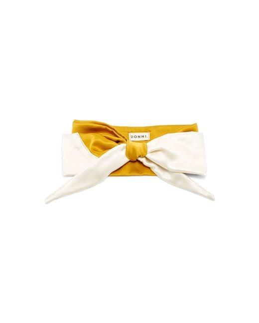 DONNI. - Yellow M'o Exclusive Silk Babette Headscarf - Lyst
