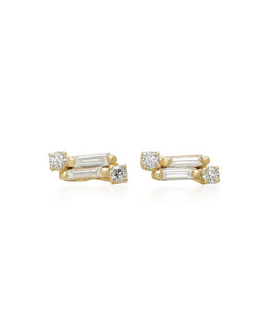 Suzanne Kalan - Metallic 18k Gold Diamond Earrings - Lyst