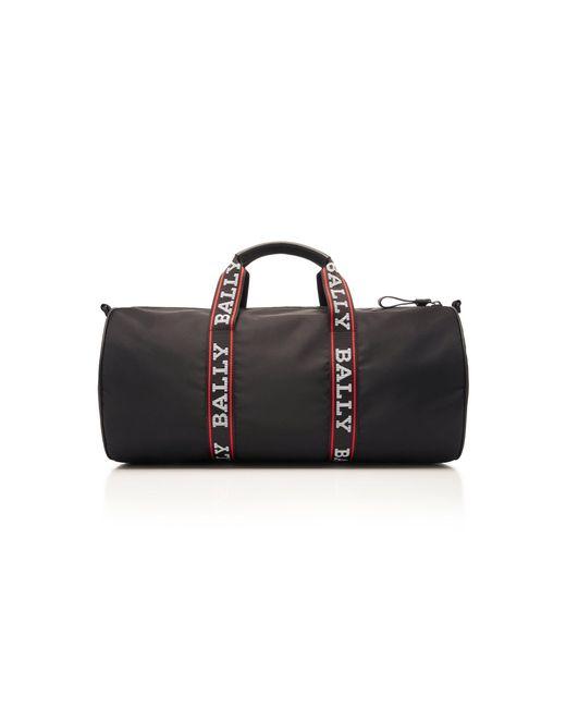 249811c4901a ... Bally - Black Nylon Logo Duffle Bag for Men - Lyst ...