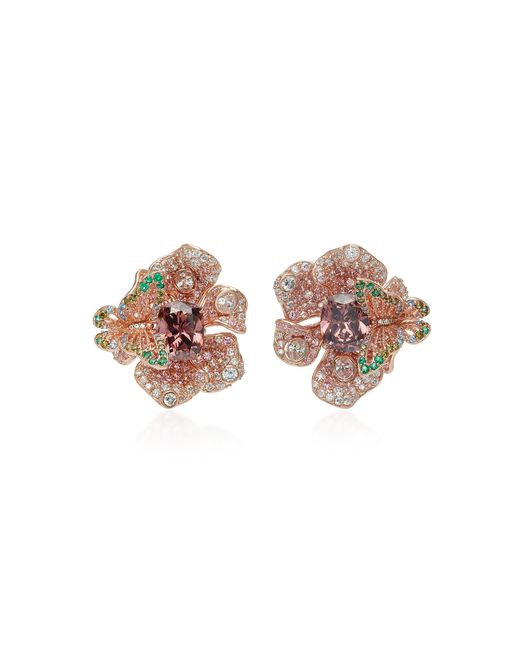 Anabela Chan - Brown Rose Peony Earrings - Lyst