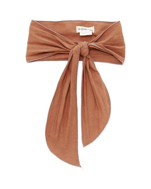 DONNI. - Brown Gigi Linen-blend Headband - Lyst