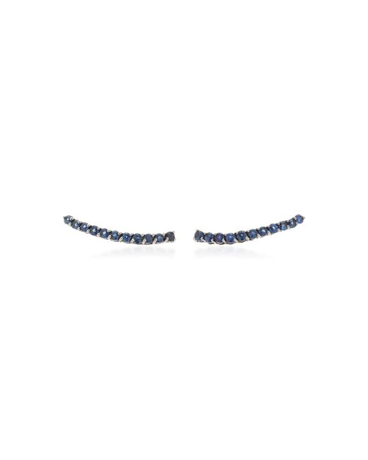 Jack Vartanian - Blue 18k White Gold And Black Rhodium Sapphire Earrings - Lyst