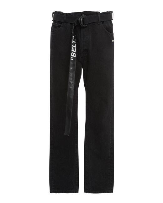 Off-White c/o Virgil Abloh - Black Belted Slim-leg Jeans for Men - Lyst
