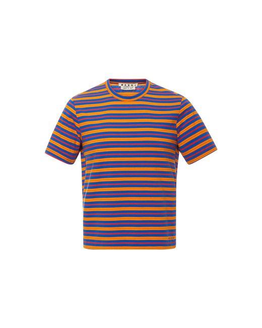 Marni - Blue Striped Crewneck T-shirt for Men - Lyst