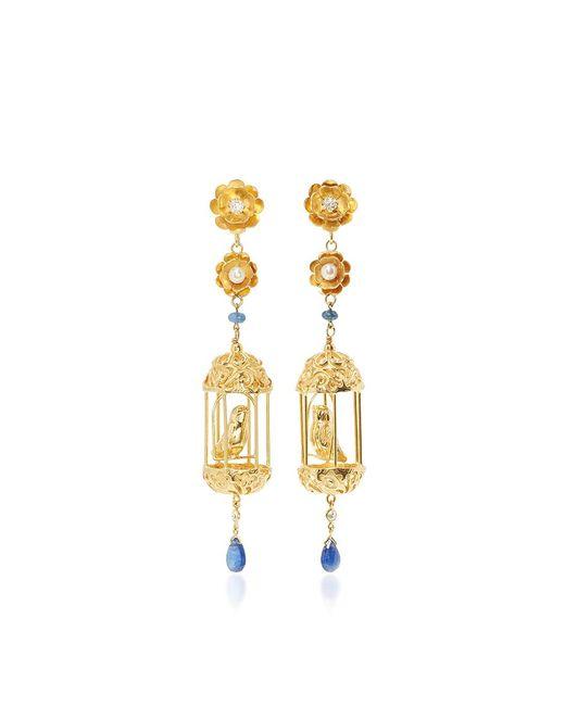 Of Rare Origin | Metallic M'o Exclusive Gold Aviary Classic Earrings | Lyst