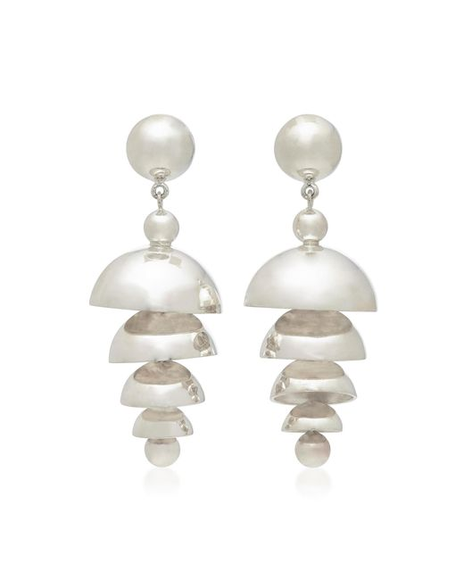 Agmes - Metallic Bell Sterling Silver Earrings - Lyst