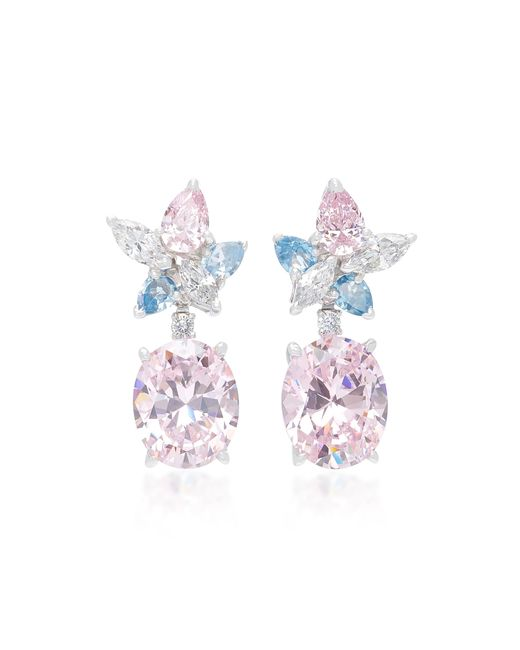 Anabela Chan - Pink M'o Exclusive Blush Lily Earrings - Lyst
