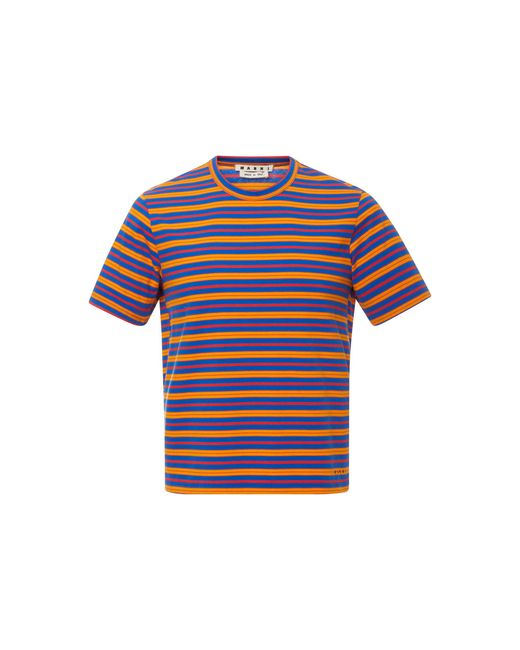 Marni - Blue Striped Crewneck T-shirt for Men - Lyst