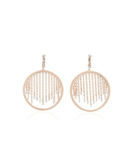 Suzanne Kalan | Pink 18k Rose Gold And Diamond Hoop Earrings | Lyst