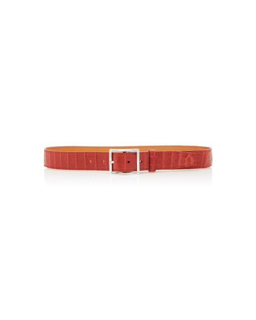 Maison Vaincourt - Red M'o Exclusive Crocodile Belt - Lyst