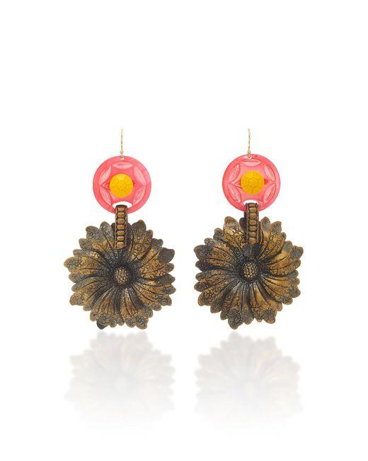 Lulu Frost - Yellow Journey Vintage Flower Earrings - Lyst