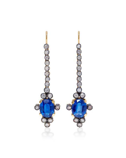Montse Esteve   Blue 18k Gold, Kyanite And Diamond Earrings   Lyst