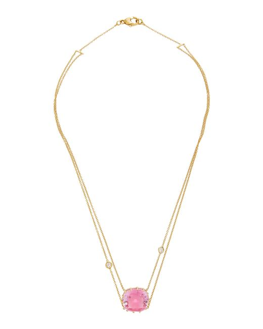 Renee Lewis   18k Gold Pink Topaz Necklace   Lyst