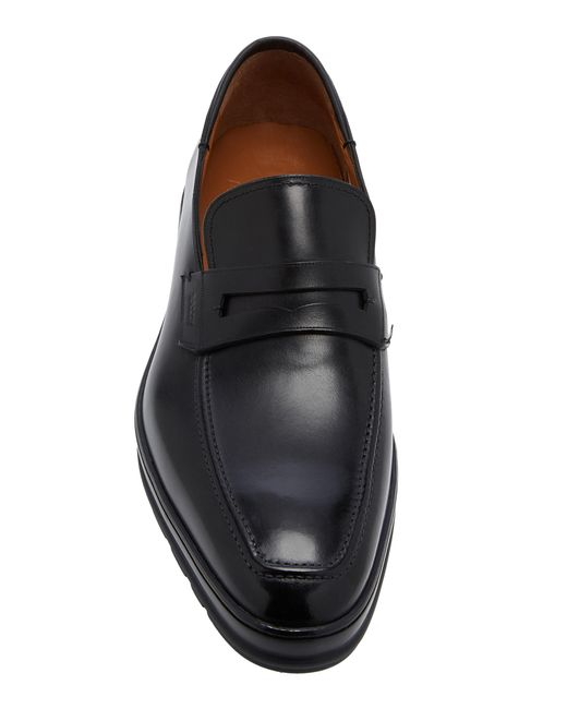 4945ba91a64 ... Bally - Black Relon Leather Penny Loafers for Men - Lyst ...