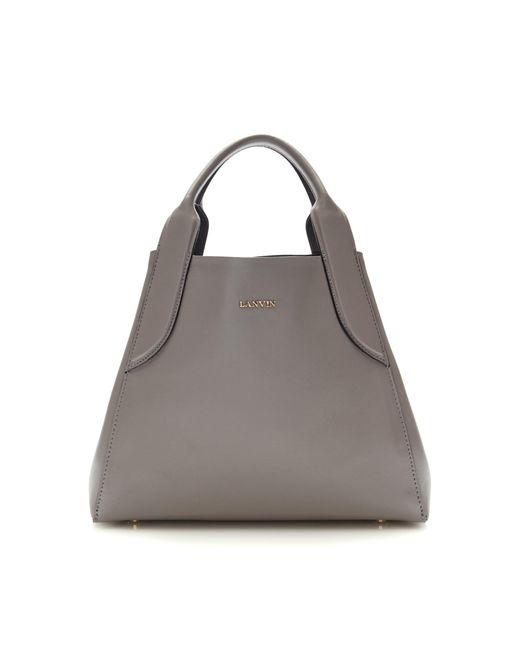 Lanvin | Gray Mini Leather Tote | Lyst