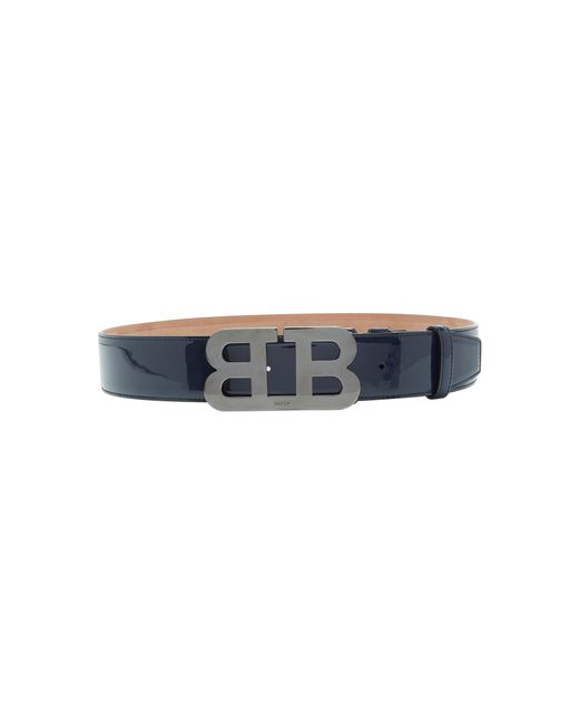 Bally - Blue Double B Buckle Belt - Lyst