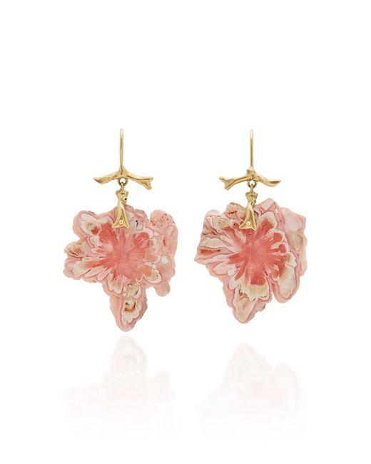 Annette Ferdinandsen - Pink Exclusive: Rhodochrosite Snowflake Branch Earrings - Lyst