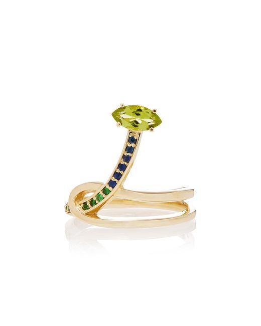 Bea Bongiasca - Metallic Gloriosa Lily 9k Rose Gold Multi-stone Ring - Lyst