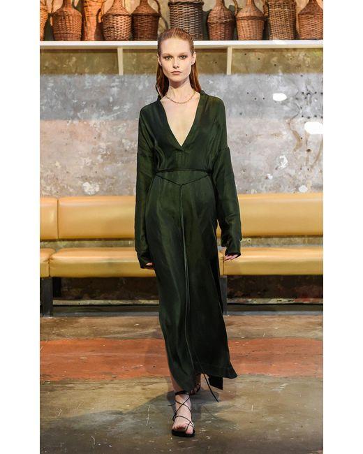 ff6bbd34a ... Bondi Born - Green Tie Waist Tunic Maxi Dress - Lyst ...