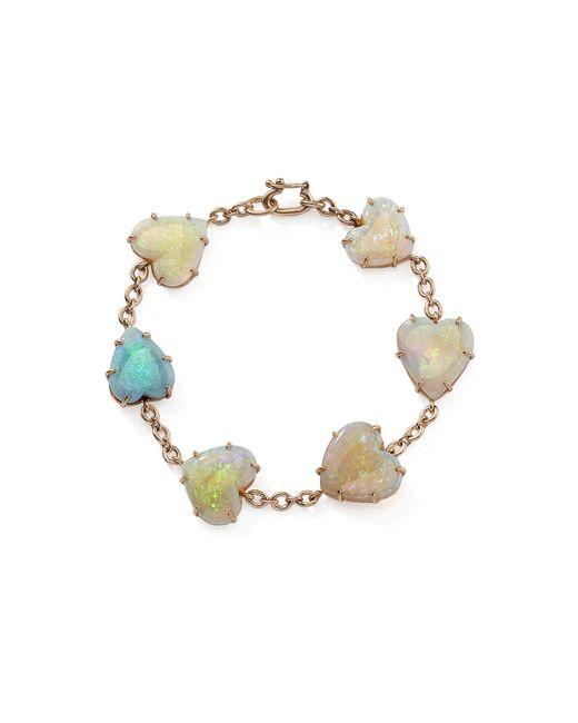 Irene Neuwirth - White One-of-a-kind 18k Rose Gold Opal Hearts Bracelet - Lyst