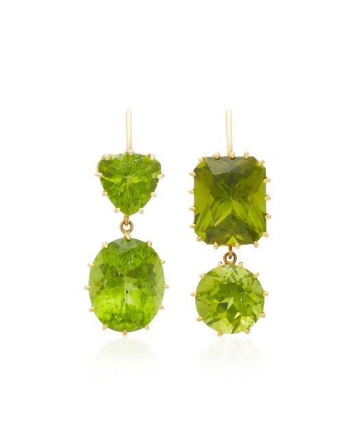 Renee Lewis | Green 18k Gold Peridot Earrings | Lyst