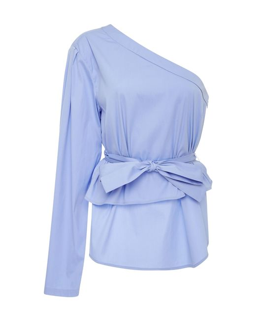 TOME - Blue Off-the-shoulder Blouse - Lyst