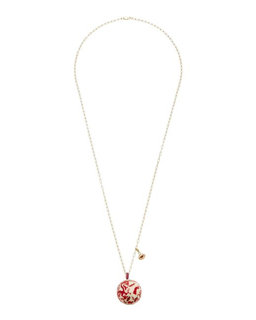 GEMFIELDS X MUSE | Red Cluster Necklace With Gold Chain | Lyst