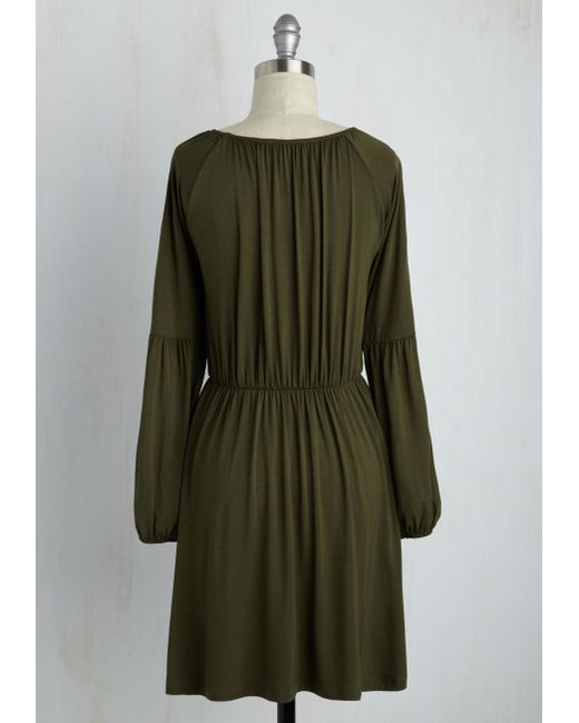 Everly Clothing Campground Chic Dress In Green Lyst