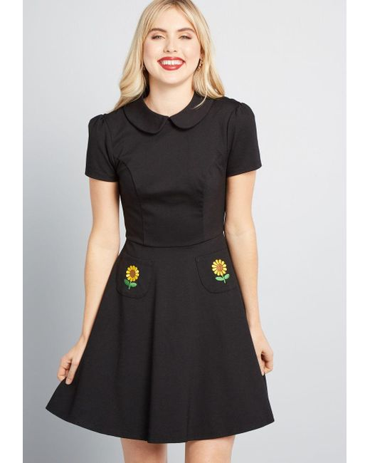 bb81cae948 ModCloth - Black Spoken Sweetness Embroidered Dress - Lyst ...