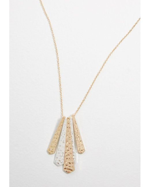 ModCloth - Metallic Love Of Luster Pendant Necklace - Lyst