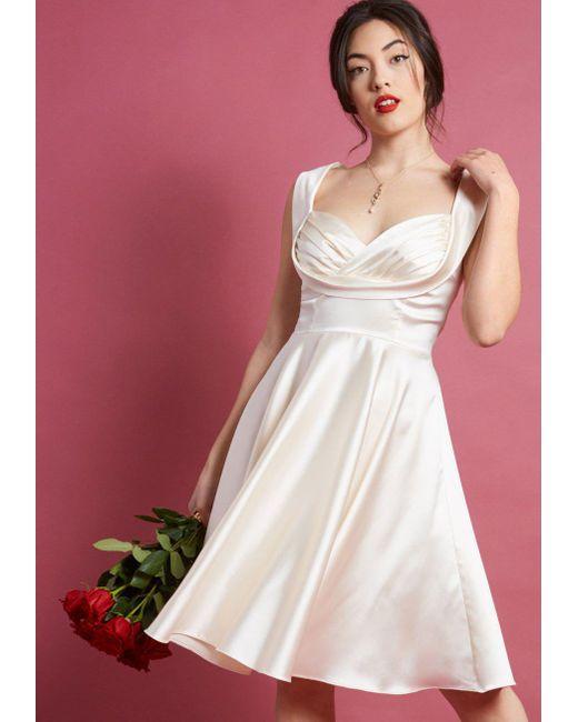 ModCloth - White Retro Moment A-line Dress - Lyst