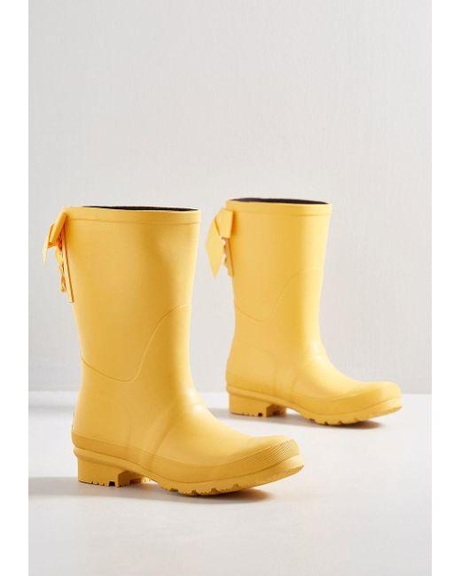 ModCloth - Yellow Good To The Last Raindrop Rain Boot - Lyst