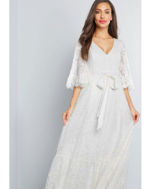 035a5747151 ... ModCloth - White Through The Bluebells Lace Maxi Dress - Lyst ...