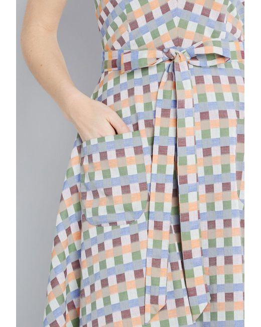 ec4d371c0a8 ... ModCloth - Blue Looking Back Sleeveless Dress - Lyst ...