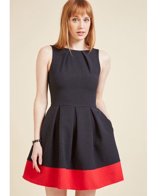 ModCloth   Luck Be A Lady A-line Dress In Black & Red   Lyst