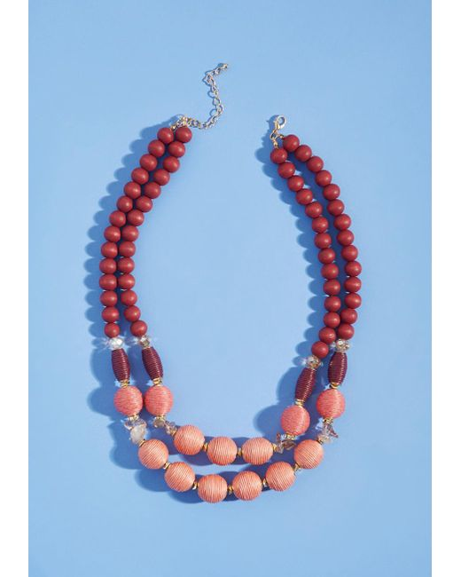 ModCloth | Multicolor Just What I Beaded Necklace In Warm | Lyst