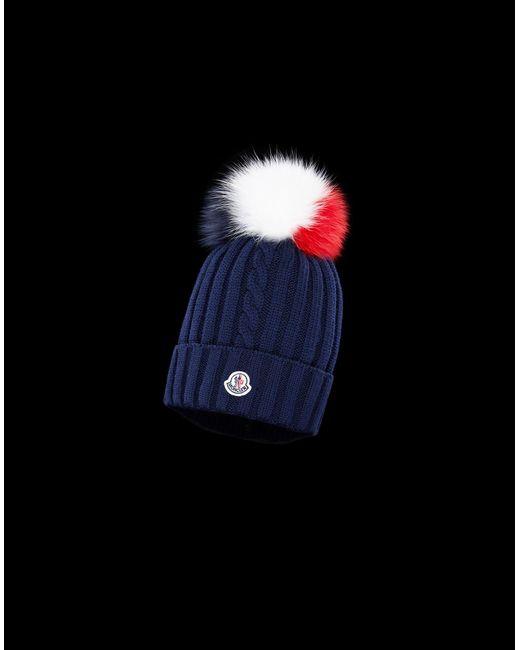 c00512538b6 Moncler - Blue Hat - Lyst ...