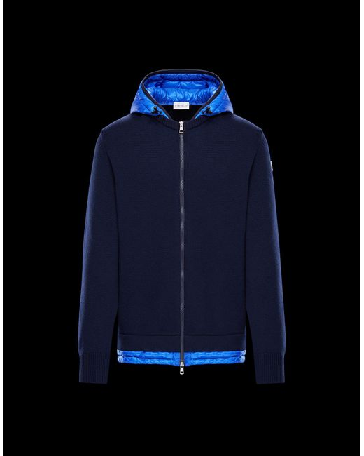 Moncler - Blue Cardigan for Men - Lyst