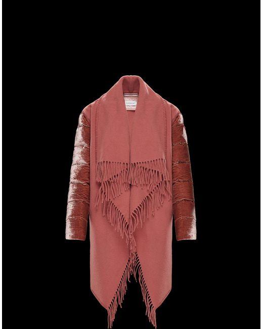 Moncler - Pink Cape - Lyst