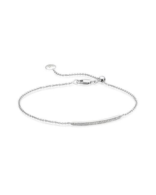 Monica Vinader   Metallic Skinny Short Bar Bracelet   Lyst