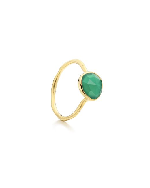 Monica Vinader | Green Siren Stacking Ring | Lyst